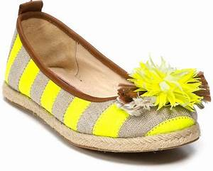 Juicy Couture Flats Gianna Stripe Espadrille in Yellow