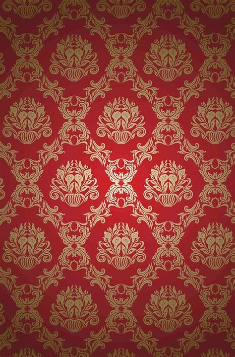 damaskroyaldeep redgoldvintageelegantchicformal