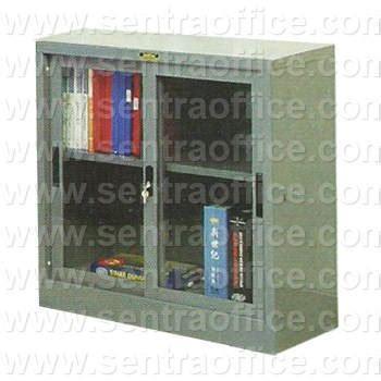 jual lemari arsip pintu sliding kaca 189 tinggi type b 306 murah sentra office