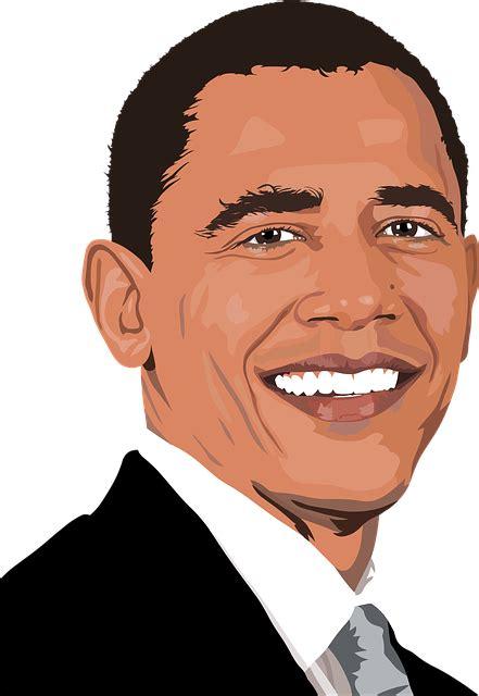 barack obama president usa united  vector graphic