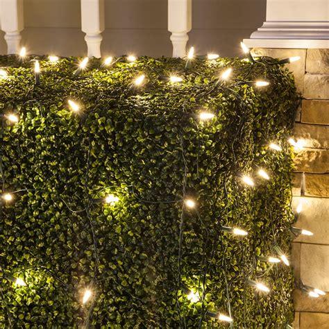 led net lights   warm white led net lights green