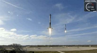 Falcon Landing Rocket Spacex Heavy Space Boosters