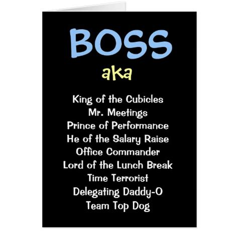 man boss christmas card aka funny job titles zazzle