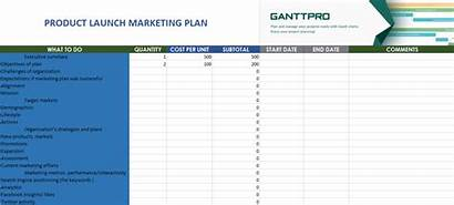 Marketing Template Excel Roadmap Launch Plan Chart