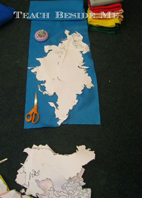 continent felt board geography projects