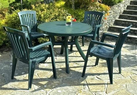 Plastic Patio Furniture by Plastic Garden Table Furniture Green Patio Outdoor