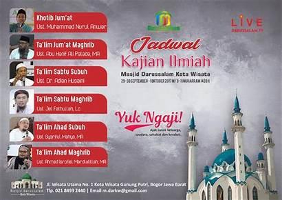 Darussalam Kajian Jadwal Masjid Wisata Kota Ilmiah