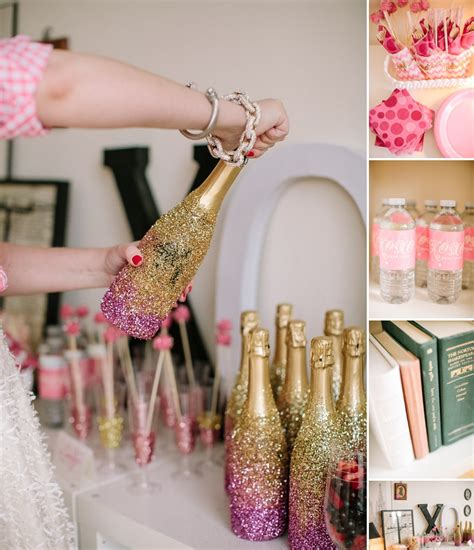 Girlfriend Gettogether Idea, A Sparkly Pink And Gold