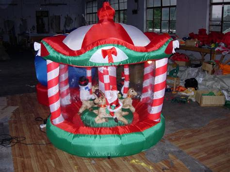 xmas decorations inflatables merry   rotate buy