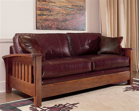 Stickley Mission Leather Sofa by Stickley Orchard Sofa 89 91 9236