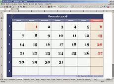 Calendario perpetuo con Excel 2 modelli di calendario mensile
