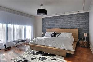 Modern Rustic Master Bedroom - Contemporary - Bedroom - Montreal