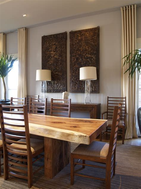 dinning room modern glorious wood and seagrass table l decorating ideas