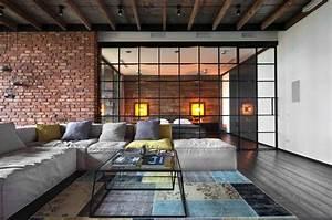 Industrial, Style, Loft, In, Kiev, Showcases, Impressive, Design