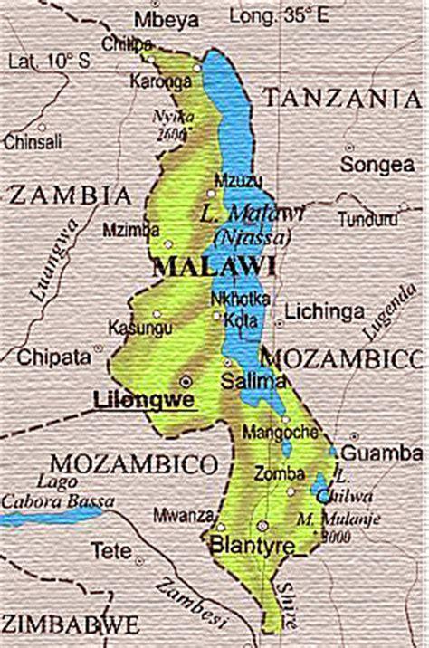 Cartina geografica del Malawi