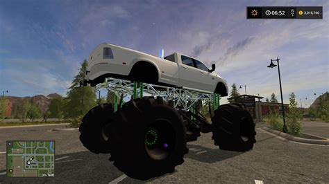 dodge mud truck dodge mud lifted v1 0 truck farming simulator 2017 mod