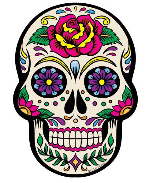 colorful sugar skull sugar skull clipart print clipground