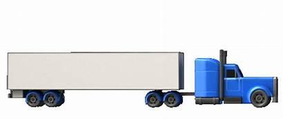 Truck Semi Moving Trucking Transportation Logistics Animated