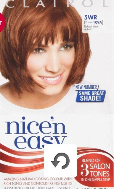 clairol nicen easy natural warm auburn wr clairol gray coverage auburn