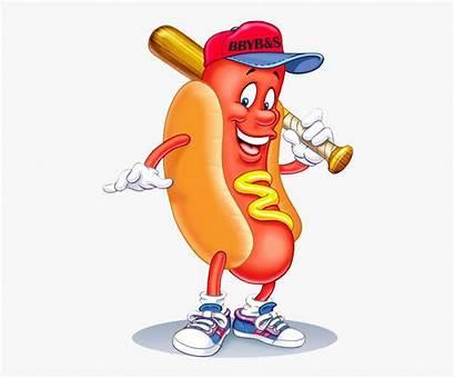 Dog Clipart Baseball Hotdog Dogs Runs Playing