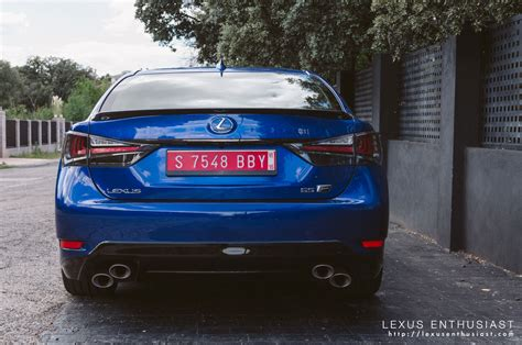 lexus is blue lexus gs f blue rear