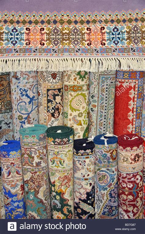 Rolls Of Moroccan Rugs In Carpet Store, Tangier, Tangier