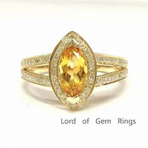 799 marquise citrine engagement ring pave diamond wedding With citrine wedding rings