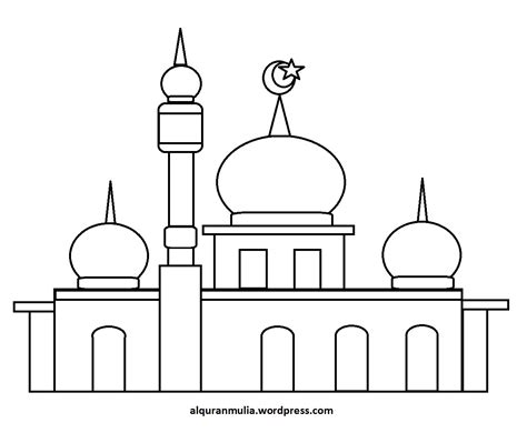 Coloring Mosque by Pin Mosque Coloring Pictures On