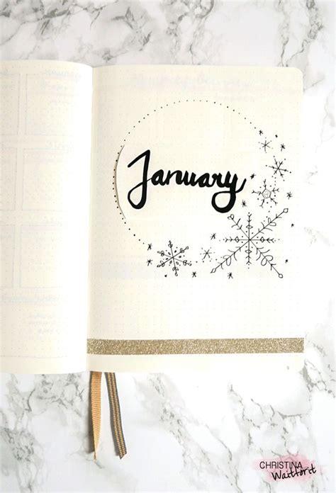 januar titelseite january bullet journal cover page