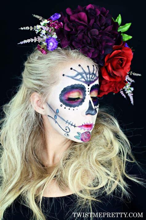 sugar skull makeup tutorial  beginners twist  pretty