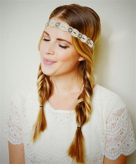 coachella fishtail pigtails hll little lady