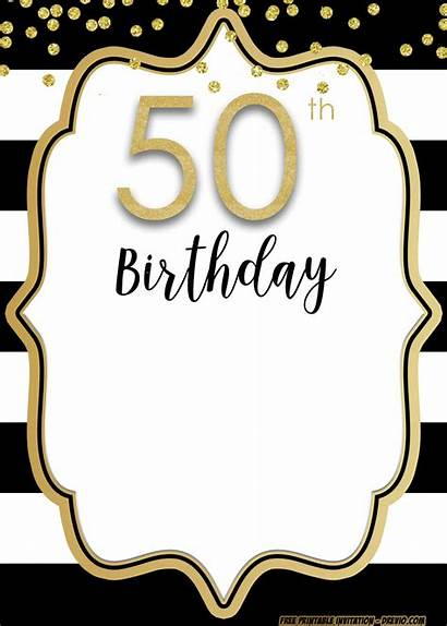50th Birthday Invitation Template Printable Party 60th