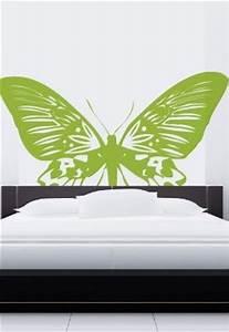 Tete De Lit Nature : stickers t te de lit papillon ~ Teatrodelosmanantiales.com Idées de Décoration