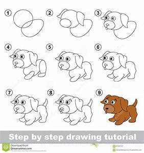 How To Draw A Puppy For Kids - Drawing Sketch Library