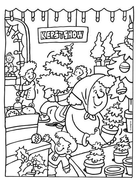 Kleurplaat Slager by Kleurplaat Kerstmarkt Kerstshow Kleurplaten Nl