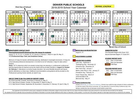 school calendar approved denver public schools