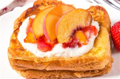 Strawberry Peach Stuffed French Toast Tasty Kitchen