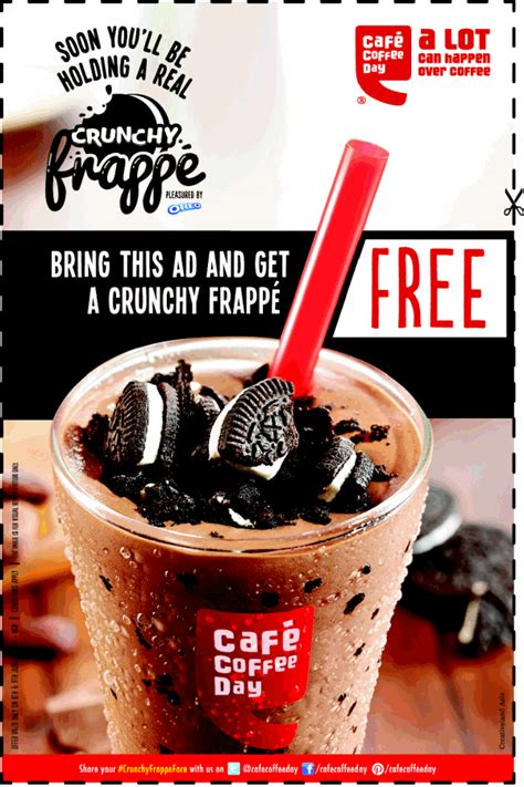 Free Crunchy Frappe at Cafe Coffee Day (Only for Delhi City)