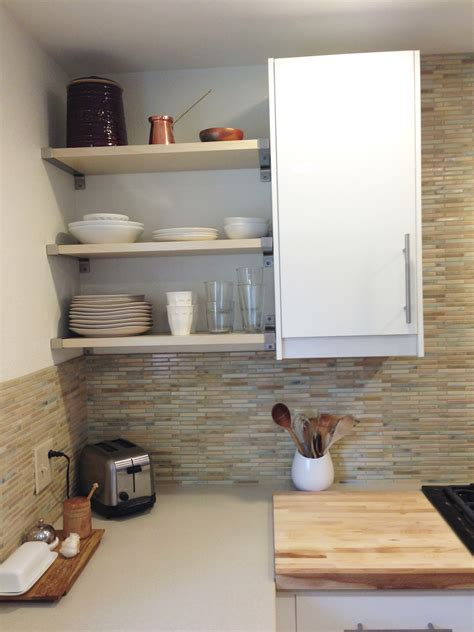 kitchen storage shelves the pros and cons of open shelving in the kitchen