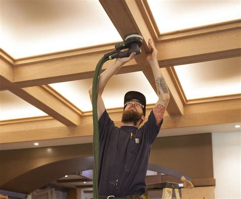 craftsman style coffered ceiling jlc