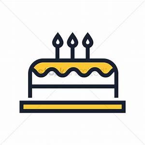 Birthday cake icon Vector Image - 1984640   StockUnlimited
