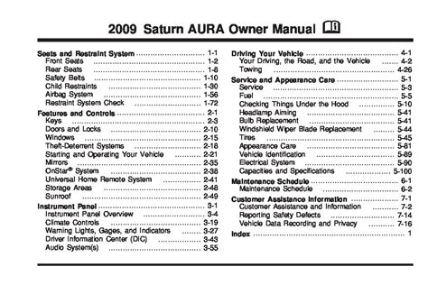 security system 2007 saturn aura user handbook 2009 saturn aura owners manual just give me the damn manual