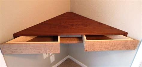 floating corner shelf  drawers finewoodworking