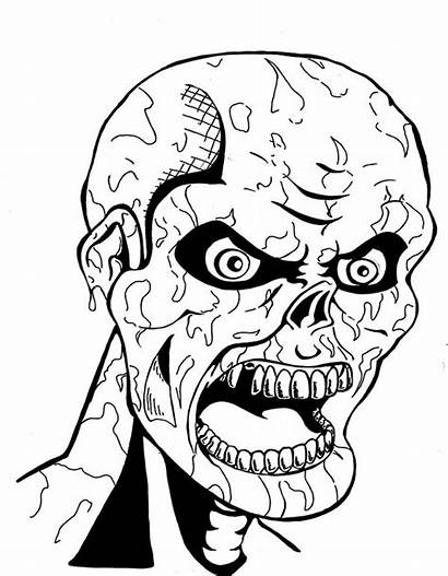 Scary Coloring Pages Mummy Monster Creepy Ancient