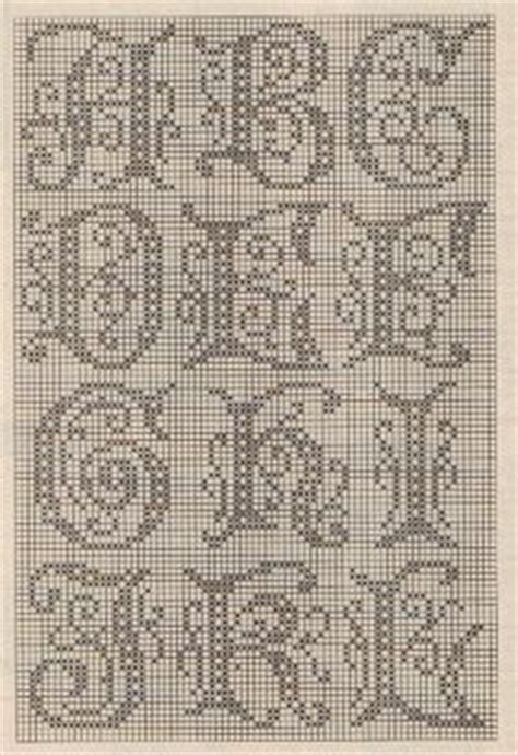 images  filet crochet  pinterest filet crochet number chart  alphabet