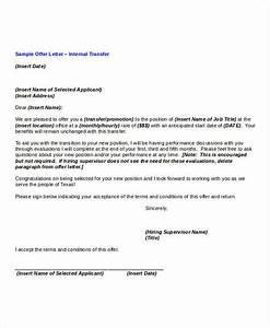transfer offer letter template 5 free word pdf format With internal transfer letter template