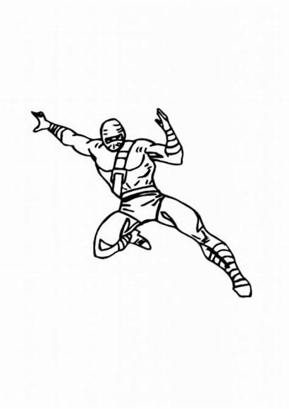 Ninja Coloring Pages Attractive Activity