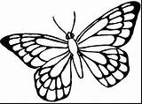 Butterfly Outline Wing Coloring Monarch Tattoo Template Only Clipartmag sketch template