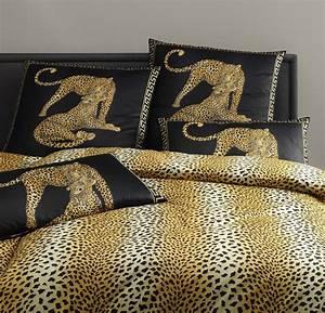 Bettwäsche Schwarz Gold : elegante gepard bettw sche exotica schwarz ~ Buech-reservation.com Haus und Dekorationen