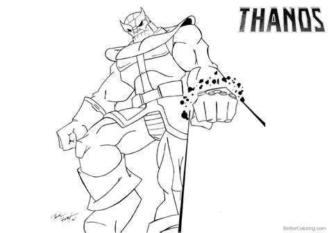 Kleurplaat Fortnite Thanos by Thanos Coloring Pages By Josh Free Printable